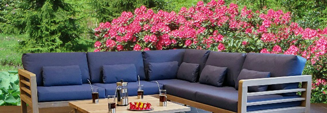 Hollywood  FSC  recycled teak all weather cushions Allure bv